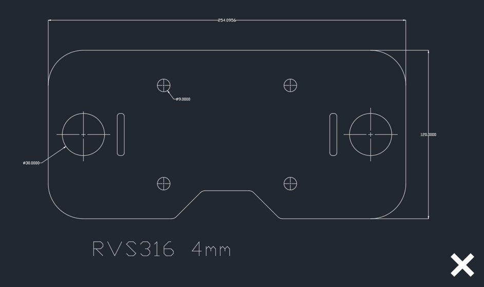 lasersnijden werktekening RVS